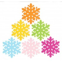 Set of 6 Beautiful Snowflake Place Mats Pot Holders Insulation Mats Cup Mats