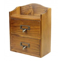 Small Lovely Natural Wood Storage Chests Desktop Container Storage Cabinet
