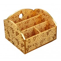 Lovely Practical Wood Desk Storage Box Storage Basket Desktop Receive Container