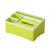 Multifunctional Creative Desktop Storage Box/ Tissue Box,Green