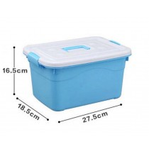 Plastic Household Storage Box Storage Bins For Snacks/Clothes,Medium,Blue