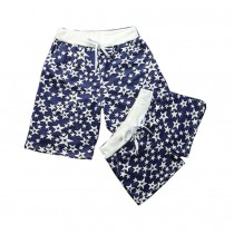 Set Of Two Star Pattern Loose Pajamas/Athletics Shorts