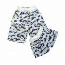 Set Of Two Youth Home Shorts/Couple Beach Pants/Athletics Shorts