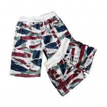 Set Of Two Cheap Cotton Gym Shorts/Couple Beach Pants/Athletics Shorts