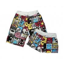 Set Of Two Cute Cartoon Couple Beach Pants/Athletics Shorts