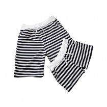 Set Of Two Fashionable Stripe Athletics Shorts/Casual Pants