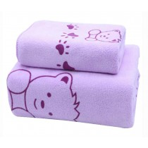 Set of 2 Eco-friendly Lightweight Absorbent Household Sport Towels Bath Towels