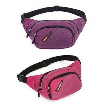 Set of 2 Good Outdoor Waist Packs Sports&Running Pockets (Rose And Purple)
