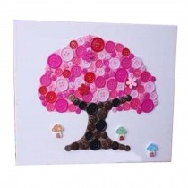 Tree Pattern Style Puzzle/Button Painting/Parent-child Entertainment