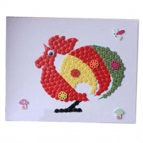 Chicken Pattern Style Puzzle/Hand Painted/Parental Stickers