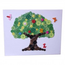 Tree Pattern Hand Painted/Children's Intellectual Toys/Button Painting