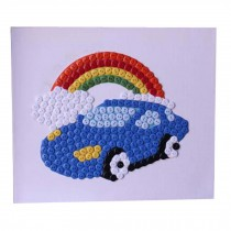 Car Pattern Style Button Painting/Children's Intellectual Toys