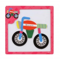 Colorful Creative Magnetic Puzzle Kids' Educational Puzzles Toys (Bicycle)