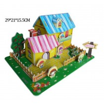 Beautiful 3D House Jigsaw Puzzle Children And Students Toys Stereo Puzzle
