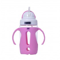 Portable Baby Water Bottle With Handle Useful Kids Training Bottle [Pink]