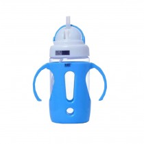 Portable Baby Water Bottle With Handle Useful Kids Training Bottle [Blue]
