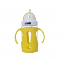 Portable Baby Water Bottle With Handle Useful Kids Training Bottle [Yellow]