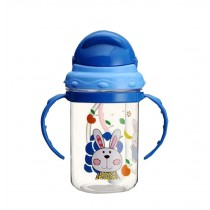 Kids Home Water Bottle With Handles & Lid Useful Baby Drink Cup