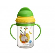 Durable Kids Water Bottle With Straw 280ML Baby Portable Bottle