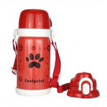 Red Stainless Steel Baby Outdoor Kids School Vacuum Cup 600 ML