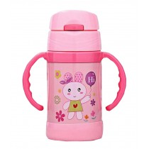 Stainless Steel Infant Baby Straw Vacuum Cup Insulated Bottle 280 ML
