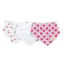 100%Cotton Funny Baby Bib Bandana Bib/3 Pack