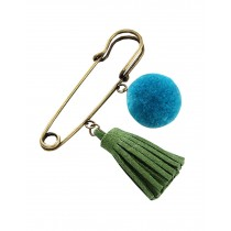 Sweet Wool Ball Temperament Tassels Brooch Pin 4Pcs