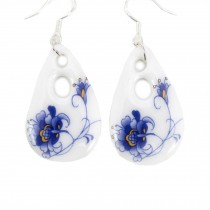 Chinese Style Earrings Ceramics Earrings Accessories for Girls, 2 Pairs