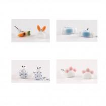 Super Cute Stud Earrings Ceramic Earrings for Girls 4 Pairs, E