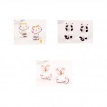 Lovely Stud Earrings for Kids Girls 3 Pairs