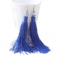 3 Pairs Tassel Earrings Drop Dangle Bohemian Earrings Tassel for Women, Blue