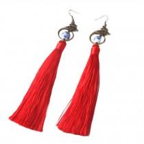 Tassel Earrings Drop Dangle Earrings Tassel with Ceramic bead for Women Girls
