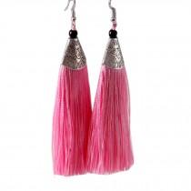 Mini Tassel Earrings Drop Dangle Earrings Tassel for Women Girls 4 Pairs