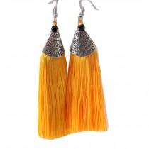 Mini Tassel Earrings Drop Dangle Earrings Tassel for Women Girls 4 Pairs, Yellow