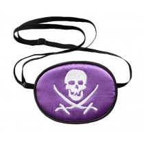 Purple silk Comfortable Eye Patch for Children - Pirate Pattern