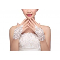 Elegant Lace Fingerless Gloves Bride Wedding Party Costume