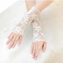 Fashion Fingerless Women Wedding/Party Lace Gloves