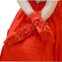 Useful Women Rhinestone Bridal Gloves for Wedding Party