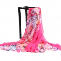 Womens Large Square Scarf Silk Feeling  Sunscreen Shawls, 76.8*57''