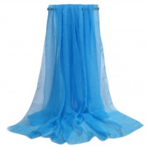 Women's Fashion Sunscreen Shawls Wraps 76.8*57'', Blue