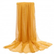 Women's Fashion Sunscreen Shawls Wraps 76.8*57'', Dark Yellow