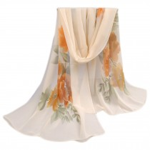 Lightweight Floral Print Spring Summer Scarf Sunscreen Shawls for Women