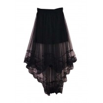 Summer Women Beach Lace Skirt Girl Dress Black