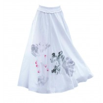 Classic White Summer Skirt for Women Beach Skirt