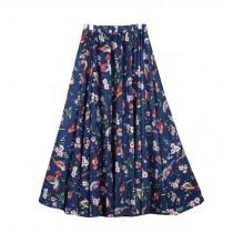 Bohemia Style Summer Beach Skirt for Women High Waist Dress