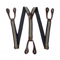 Suspenders Elastic Y-back Adjustable Button Suspender
