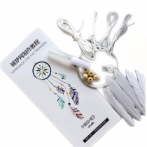 White DIY Dream Catcher Craft Kit Wall Decor Hanging Ornaments By Hand