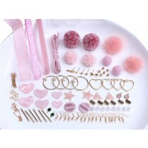 Pink Earring Making Supplies Lovely Earrings Material
