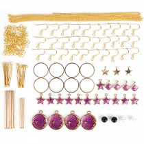 Black Earring Making Materials Kit for DIY Earrings