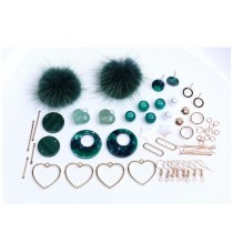 Nice Green Earring Supplies Kit for making Earrings